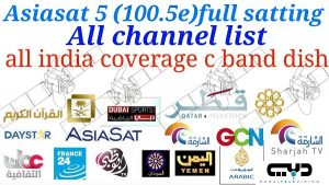 AsiaSat 5 at 100.5°E Latest Biss Key and Working Frequency 2019