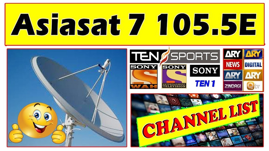 Asiasat 7 Channels List – Working Frequencies 2020